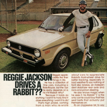 reggie jackson drives a rabbit